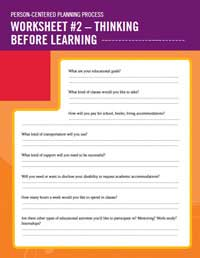 Thinking Before Learning Worksheet