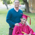 graduating student with his dad